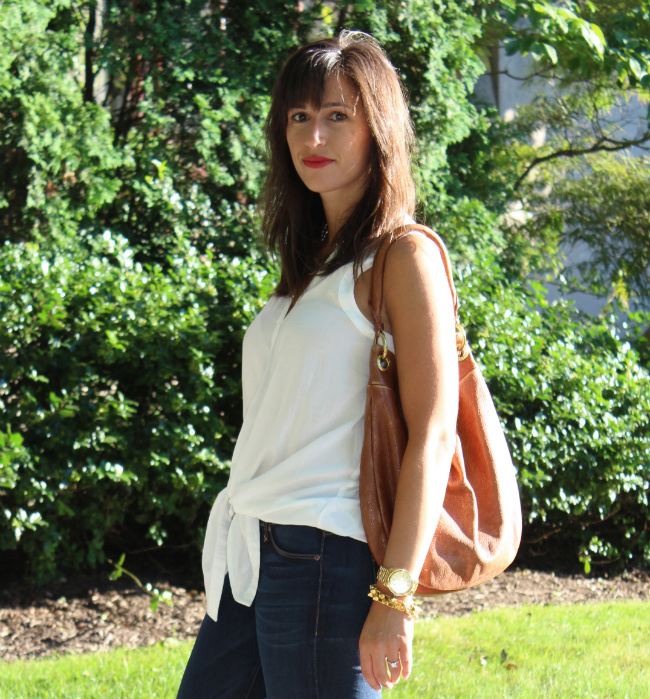 anthropologie white top
