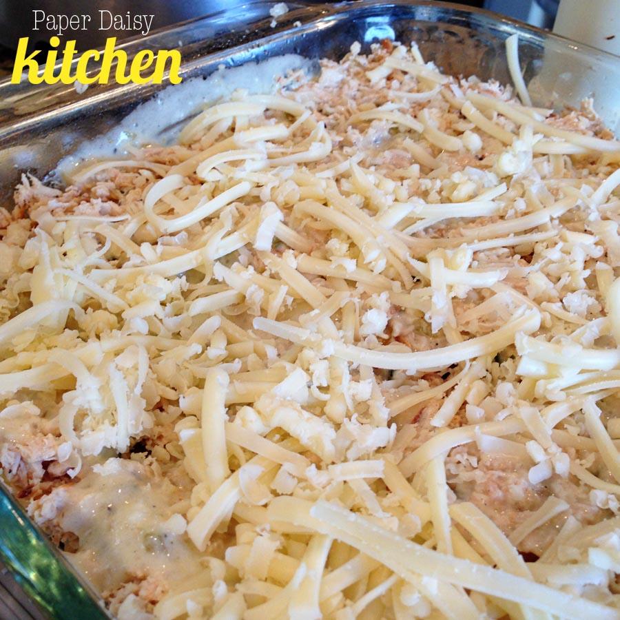 PaperDaisyKitchen: White Chicken Enchilada Casserole