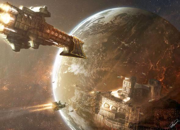 Adam Burn deviantart ilustrações ficção científica futurista espacial