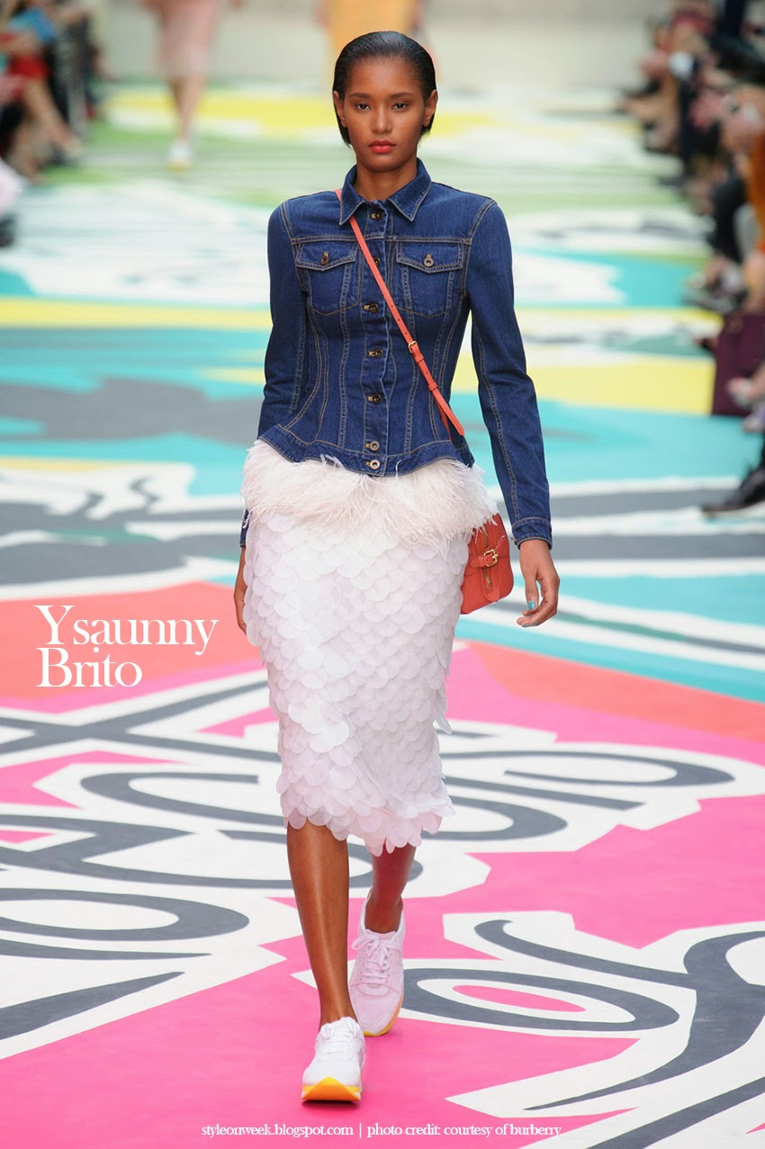 Ysaunny Brito at Burberry Prorsum Womenswear Spring-Summer 2015 Collection Look