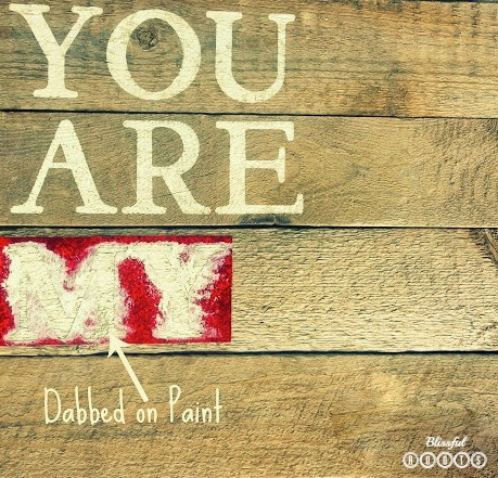 DIY Wood Planked Sign {You Are My Sunshine} @ Blissful Roots