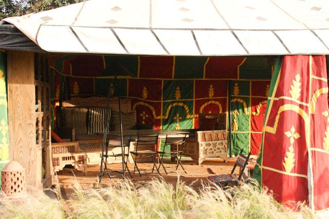 Tente à l'Hotel Beldi Marrakech