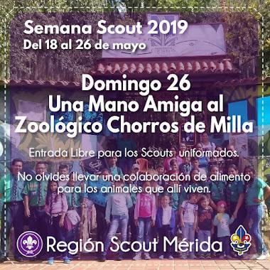 Región Scout Mérida dará una mano amiga al Parque Zoológico Chorros de Milla