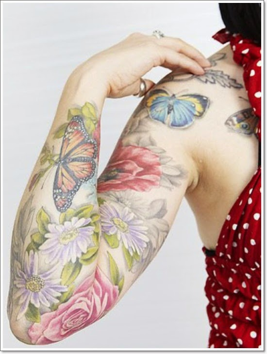 3D Butterfly Tattoos Arms For girls