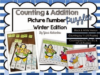 http://www.teacherspayteachers.com/Product/Counting-Addition-Picture-Number-Puzzles-Winter-Edition-1550672