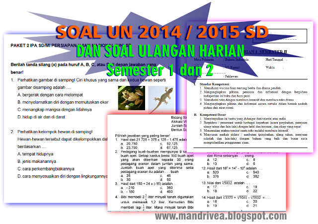 Soal Soal Un Ipa Sd New Style For 2016 2017