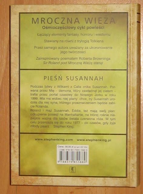 Pieśń Susannah - recenzja kolejnego tomu Mrocznej Wieży.