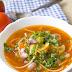 Rozgrzewająca zupa z boczkiem, fasolą i makaronem