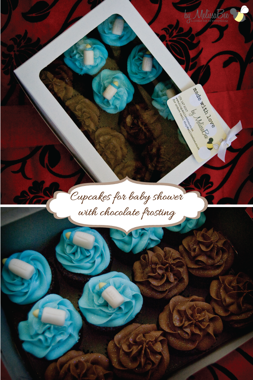 Baby Shower Cupcakes with Chocolate Frosting | Recipes byMelissaBee