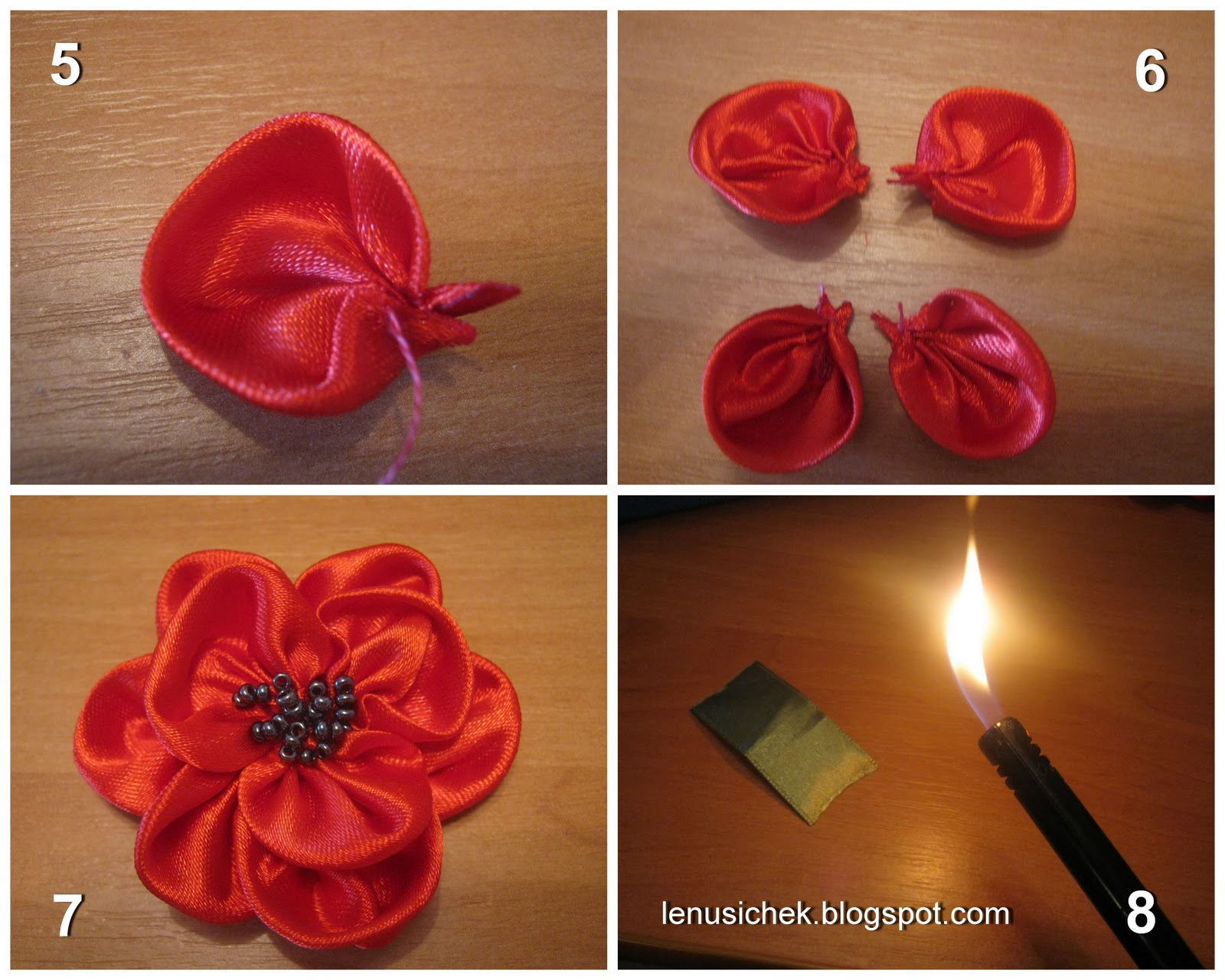 Как сделать цветы из атласной ткани своими руками поэтапно