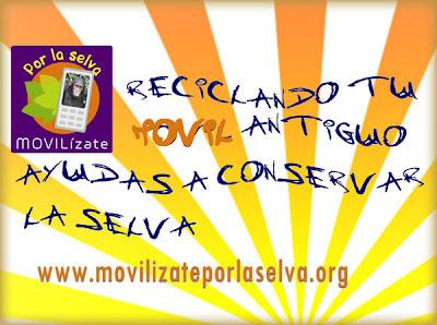 Recicla tu movil y ayuda a conservar la selva movilizateporlaselva
