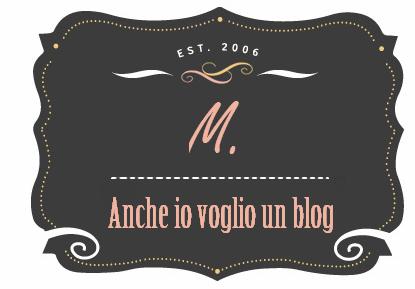 Anche io voglio un blog