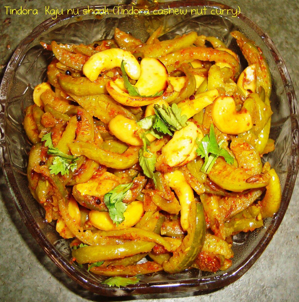 Tindora++Kaju+nu+shaak+%28Tindora+cashew+nut+curry%29.JPG