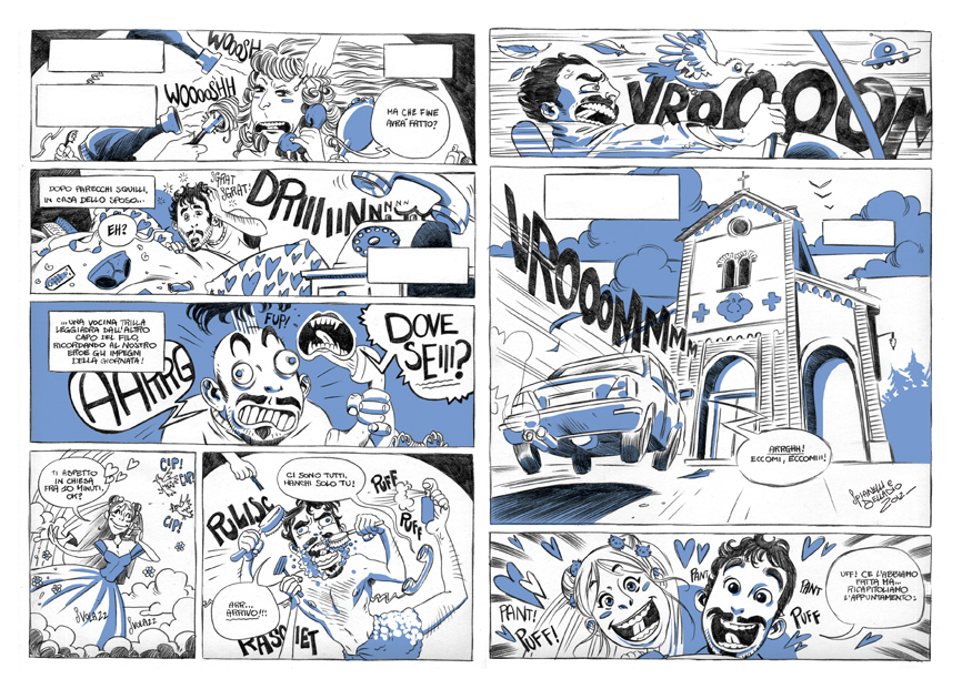 Matrimonio Tema Fumetti : Laura spianelli fumetti e illustrazioni partecipazioni di