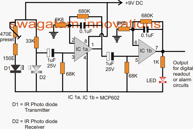 Heart rate LED indicator Circuit