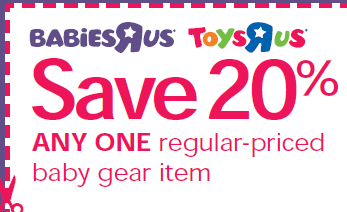 Toys r us coupons 20 off one item online