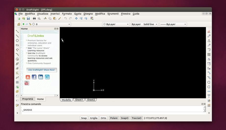 DraftSight in Ubuntu