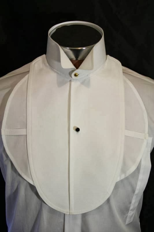 The reenactor formal attire evening tails for Tuxedo shirt bib front