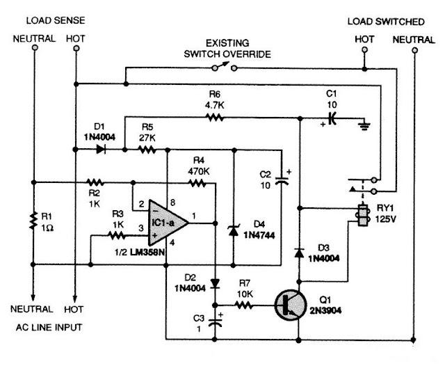 electronic circuit smart ac power strip lm358n rh kenwilliam123 blogspot com power strip circuit breaker power strip circuit breaker reset button