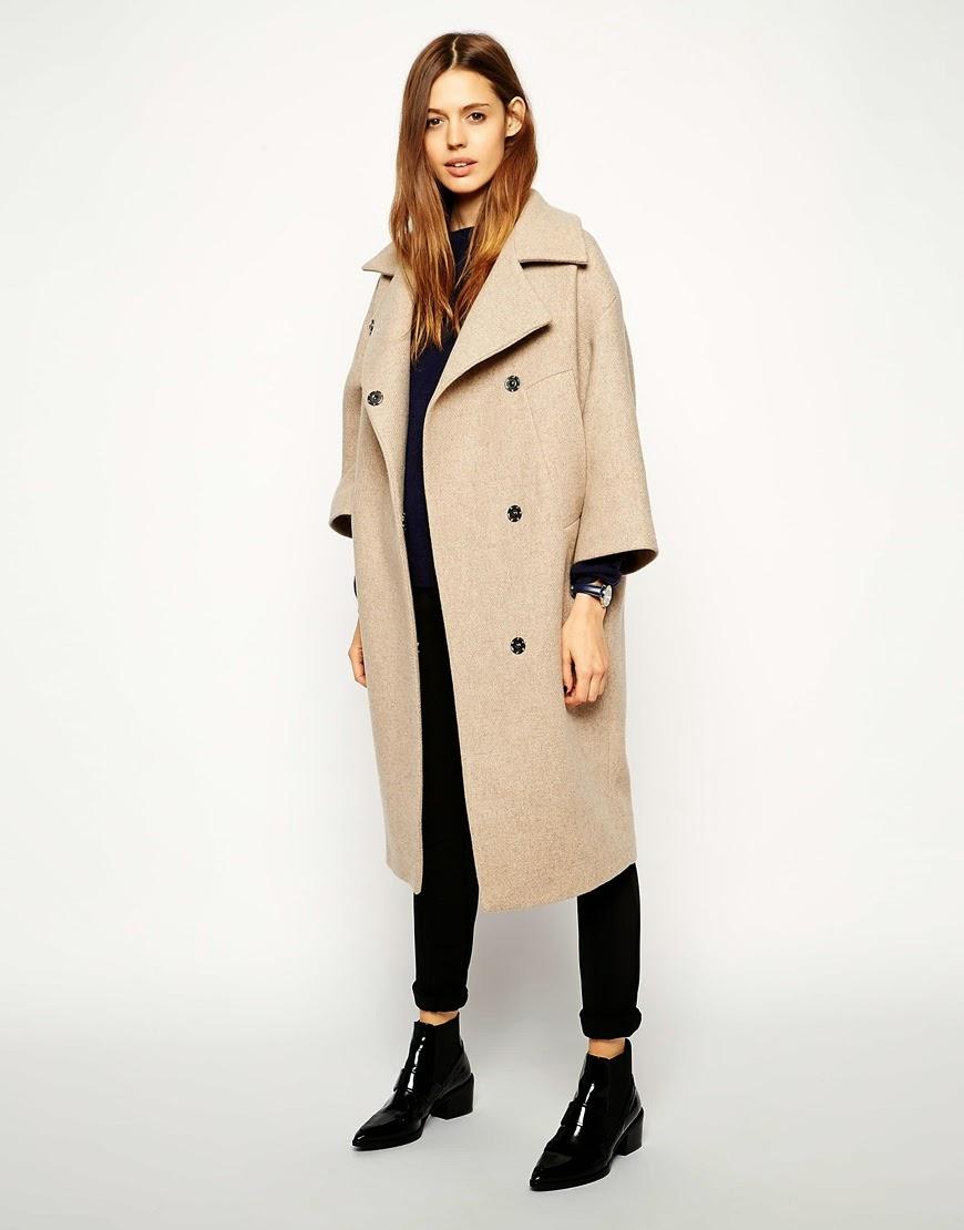 wide sleeve camel coat