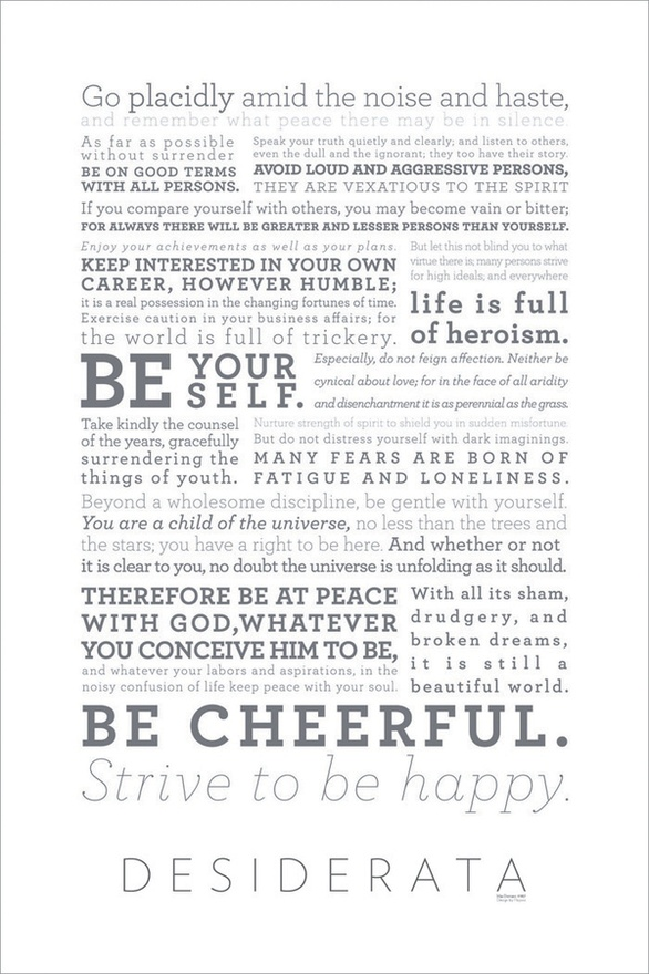 Transformative image with regard to the desiderata poem printable