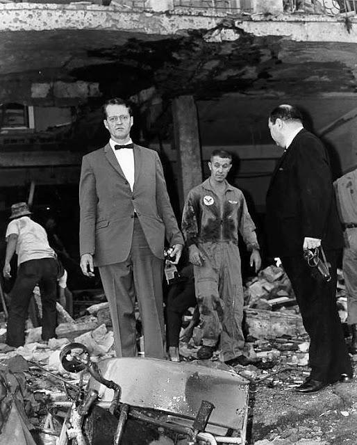 Metropole Hotel Saigon December 4 1965 Vietcong 250 pound bomb explosion US representative David King