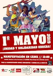 1° mayo ¡Unidad y solidaridad obrera!
