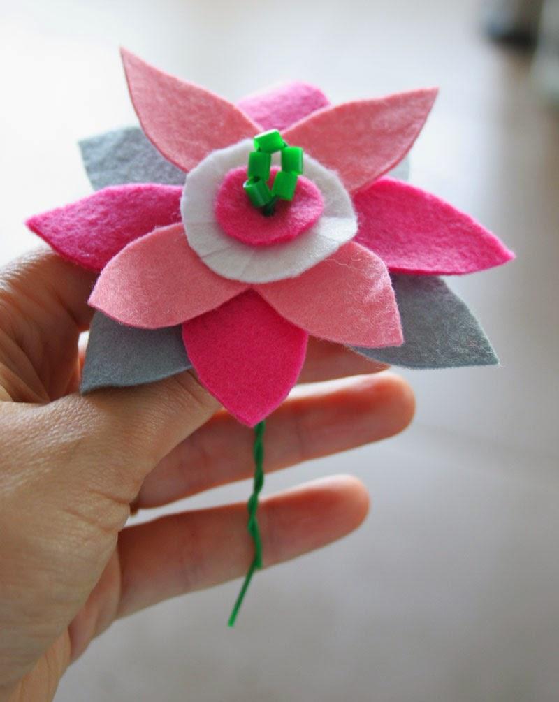 Taller de Creactividad: Diy diadema de flores de fieltro5