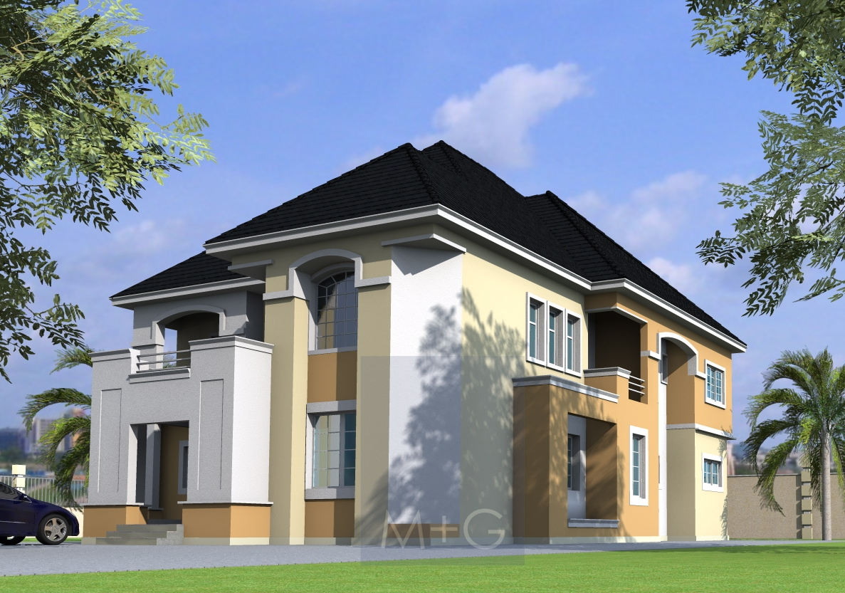 Modern roofing designs in nigeria for Modern duplex house plans in nigeria