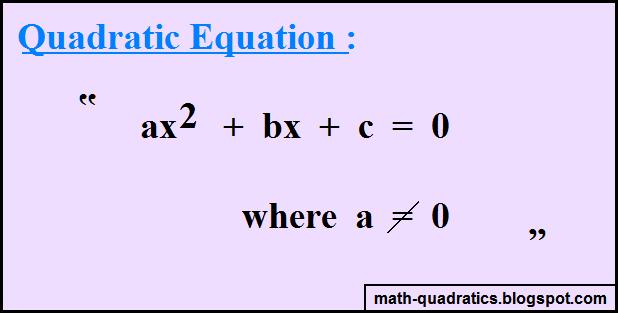 Quadratic Equation Worksheet - More information