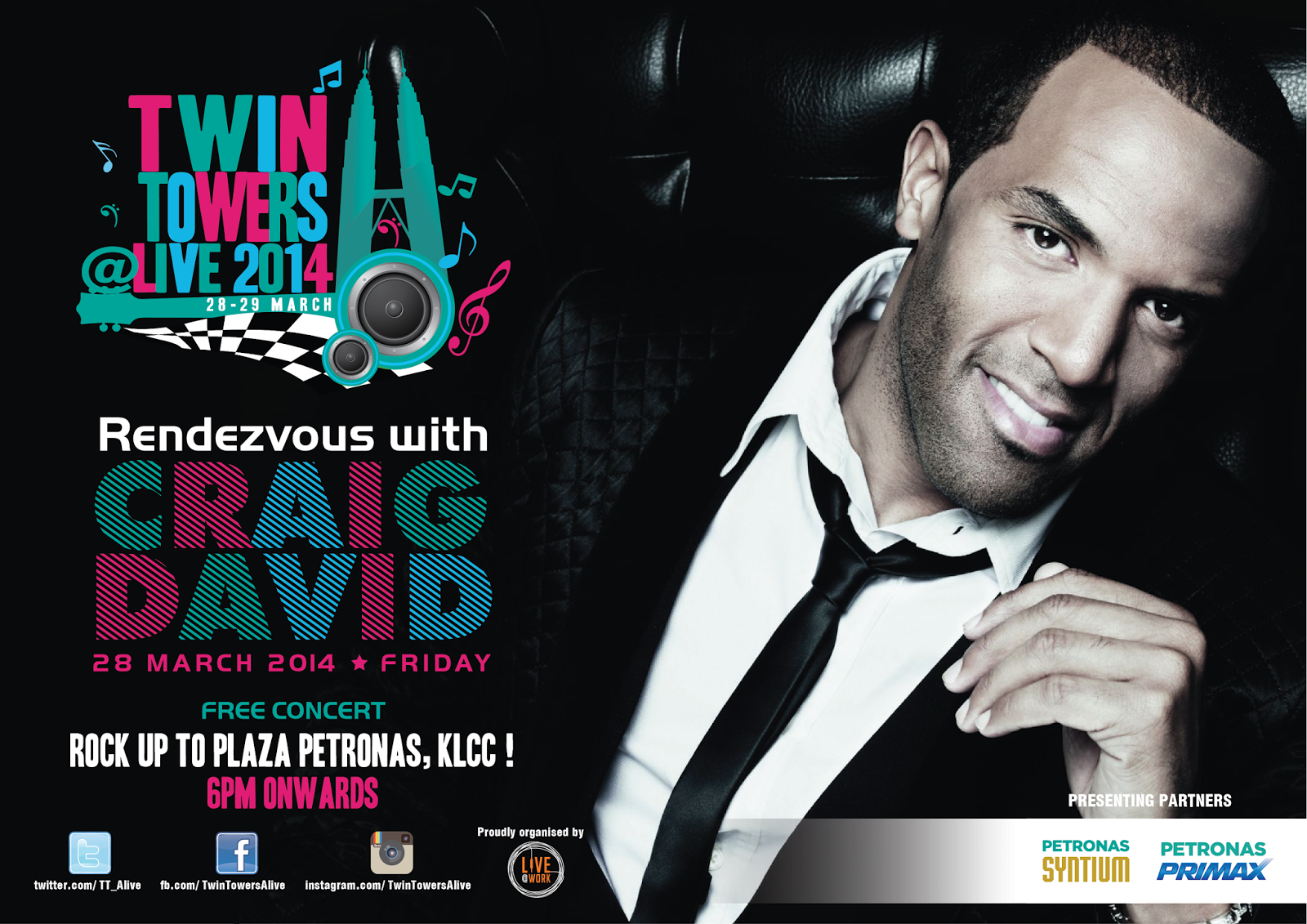 Craig David performing at TWIN TOWERS @LIVE 2014