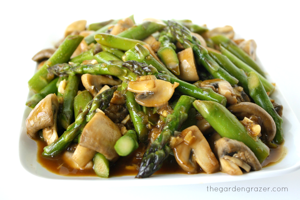 The garden grazer asparagus and mushroom stir fry asparagus and mushroom stir fry ccuart Gallery