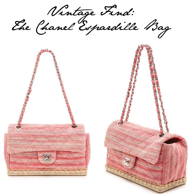 Chanel Espadrille bag