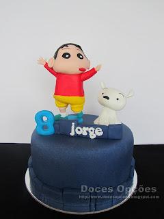O Shin Chan no 8º aniversário do Jorge