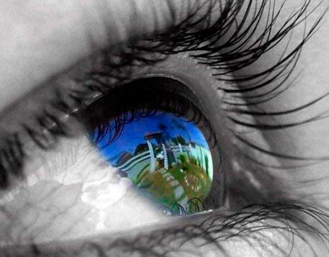 Olhar atrás das lentes