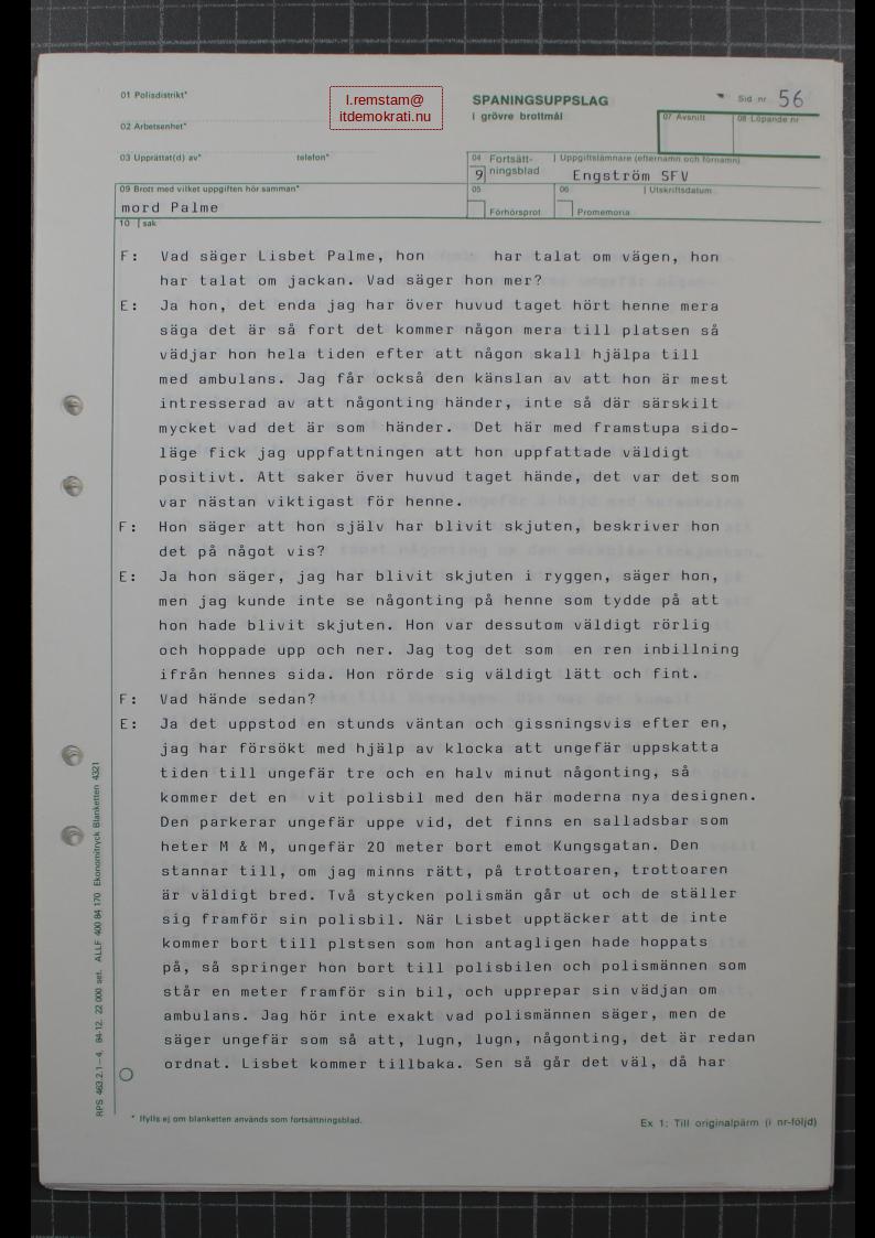 Stig Engström Palmemordet 14