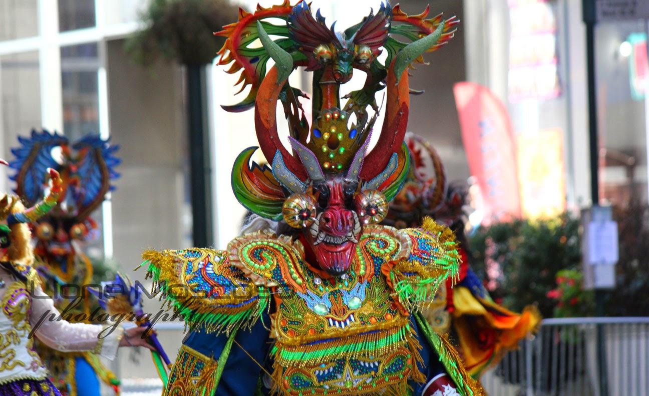 Desfile de la hispanidad de Nueva York 2014 - Diablada boliviana