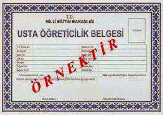 USTA ÖĞRETİCİ BELGESİ NASIL ALINIR