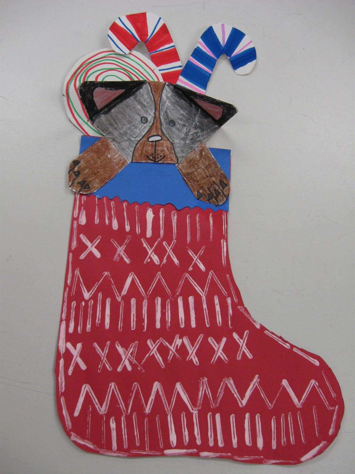 christmas stocking art ideas