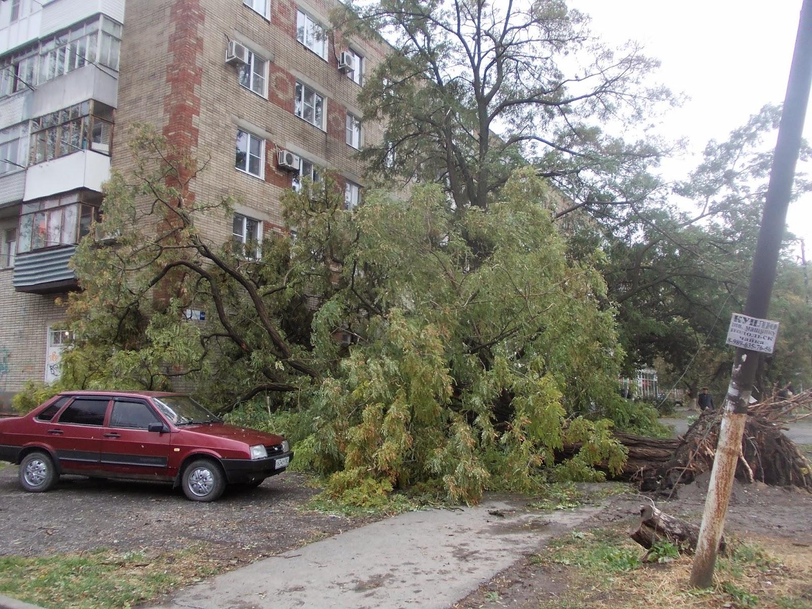 ураган в Таганроге, ураган в Ростовской области, Таганрог после урагана