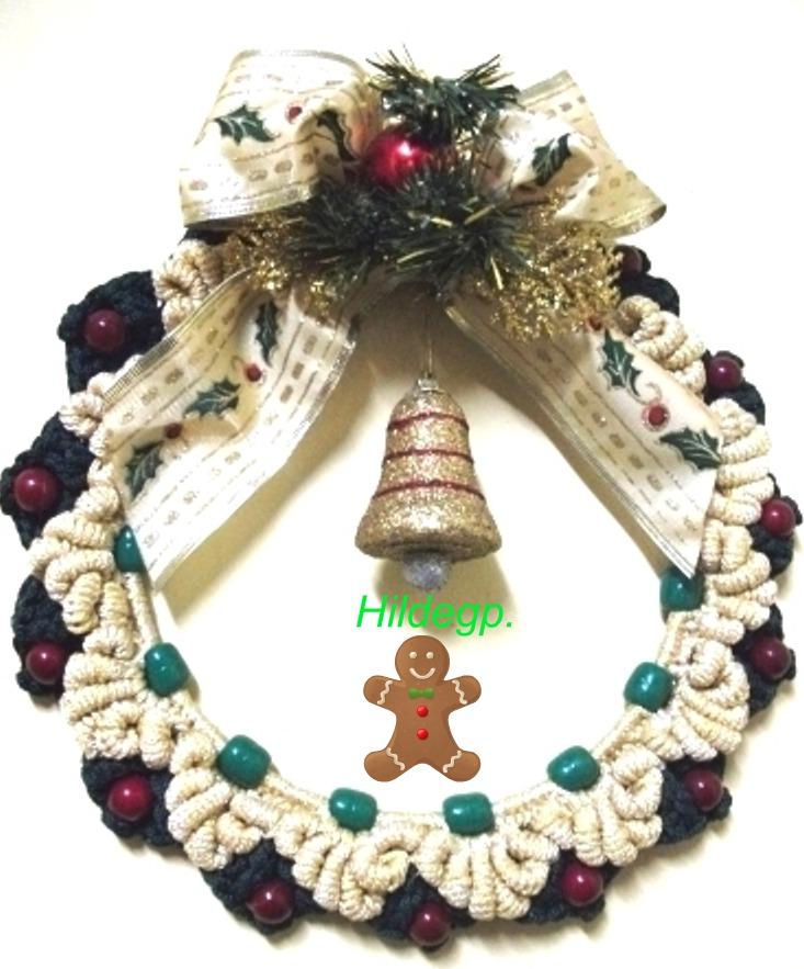 Magnífico Patrón Corona De Crochet Navidad Adorno - Ideas de ...
