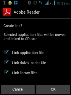 cara menggunakan link2sd