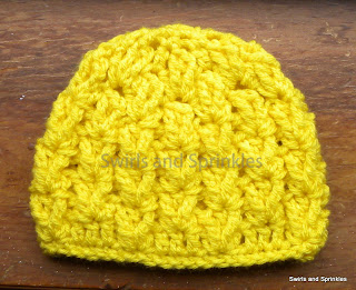 Swirls and Sprinkles: Solid color crochet hat.  Great texture.  Pattern by Hooked in Yarn