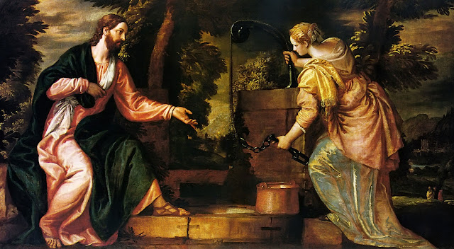 Christ and Woman of Samaria,Paolo Veronese,art