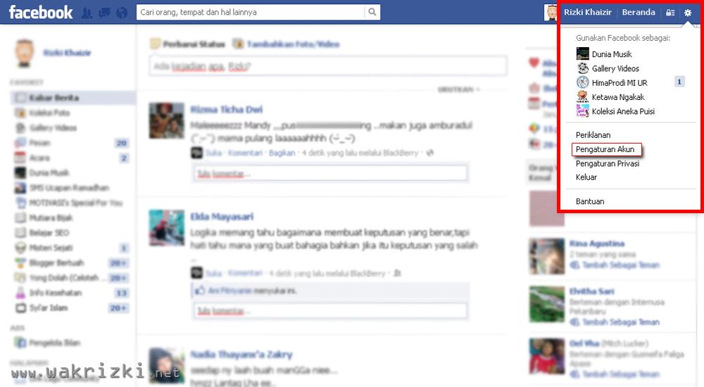 Cara Mengembalikan Teman Facebook Yang Sudah Kita Blokir