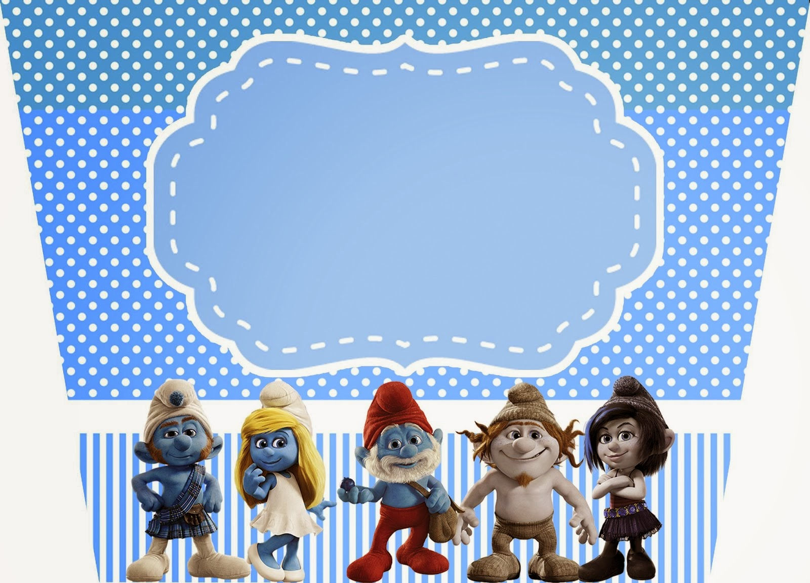 Smurfs: Free Printable Candy Bar Labels for Boys Party. | Is it for ...