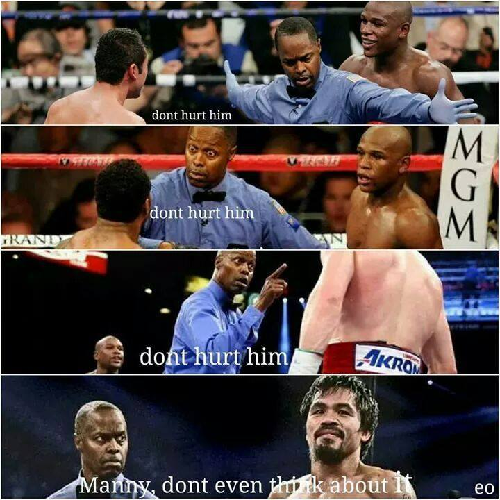 referree bayless told Manny not to hurt Floyd gayweather