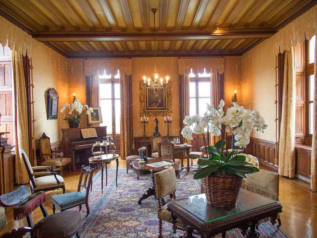 Interior do castelo de Chaumont, França