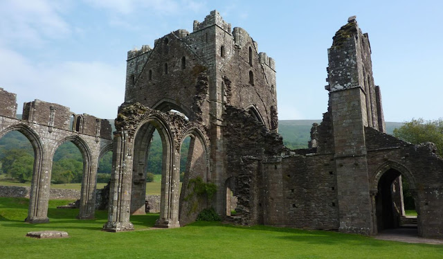 Llanthony Priory tower and nave
