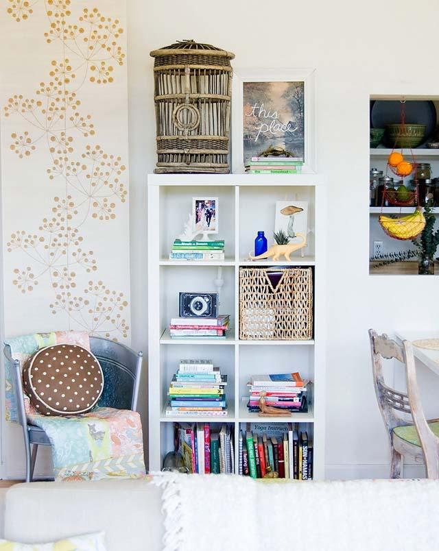 mueble de repisa blanco